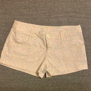 Mossimo floral khaki shorts